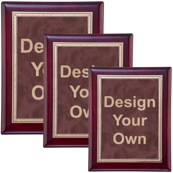 Rosewood and Ruby Wall Plaque - Multiple Sizes Available