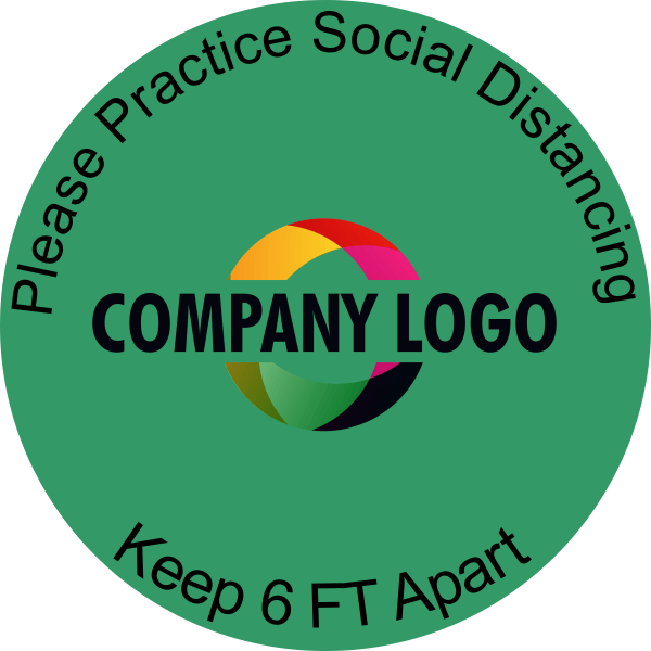 Round Floor Decal with Logo