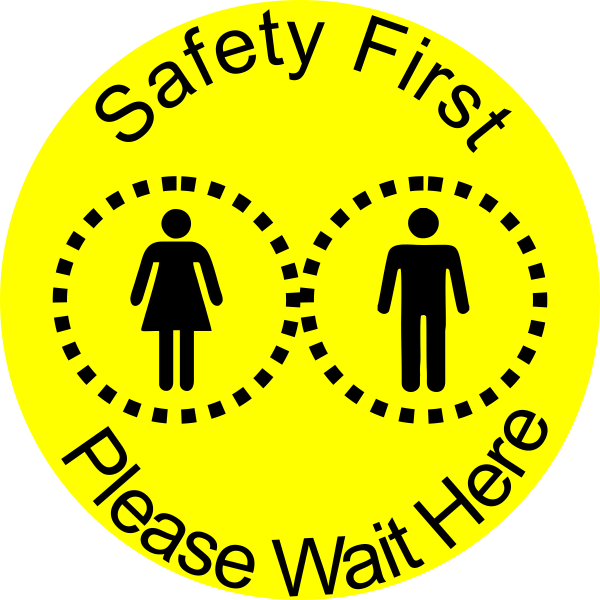 Round Safety First Floor Decal