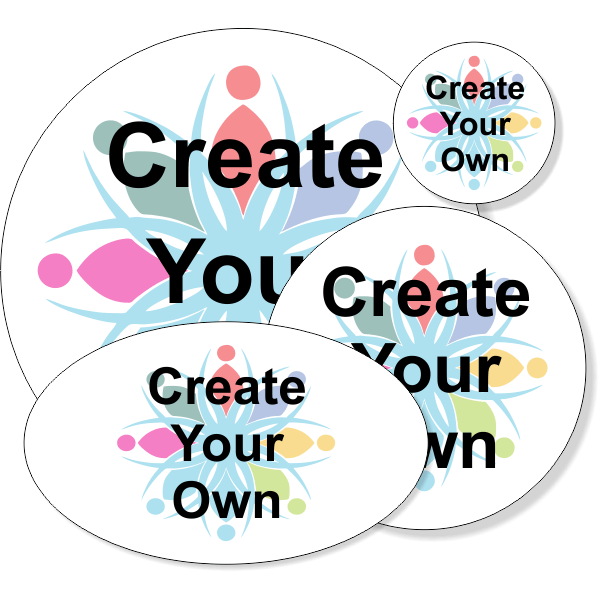 Create Your Own Round Full Color Bumper Sticker | Multiple Sizes