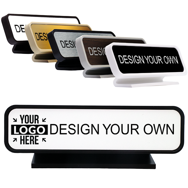 """Rounded Engraved Desk Sign 2"""" x 8"""""""