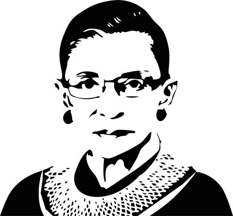 Ruth Bader Ginsberg Political Figure Stamp