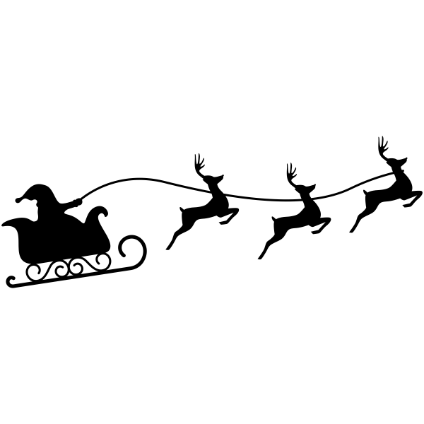 Santa Reindeer Craft Stamp