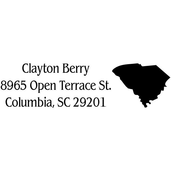South Carolina Custom Address Stamper