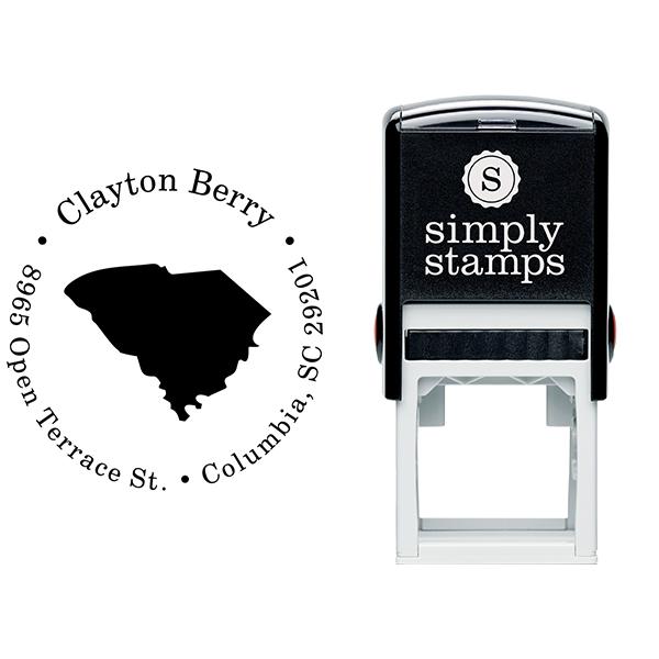 South Carolina Round Address Stamp Body and Design