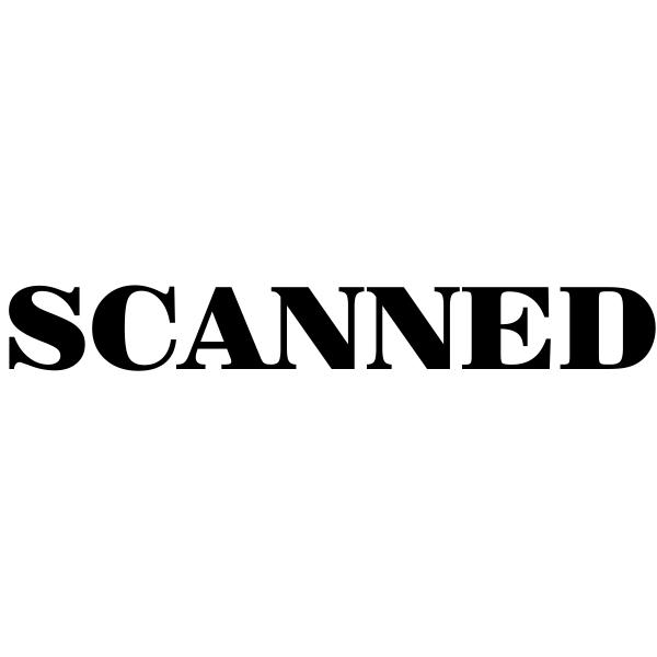 SCANNED Mobile Deposit Rubber Stamp