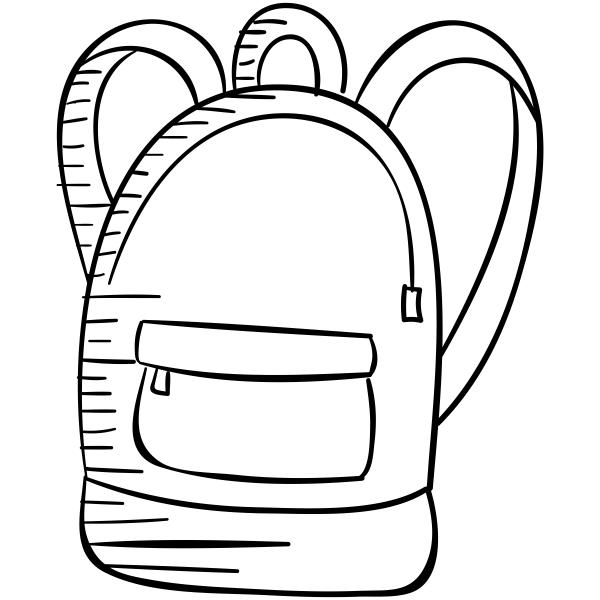 School Backpack Craft Stamp