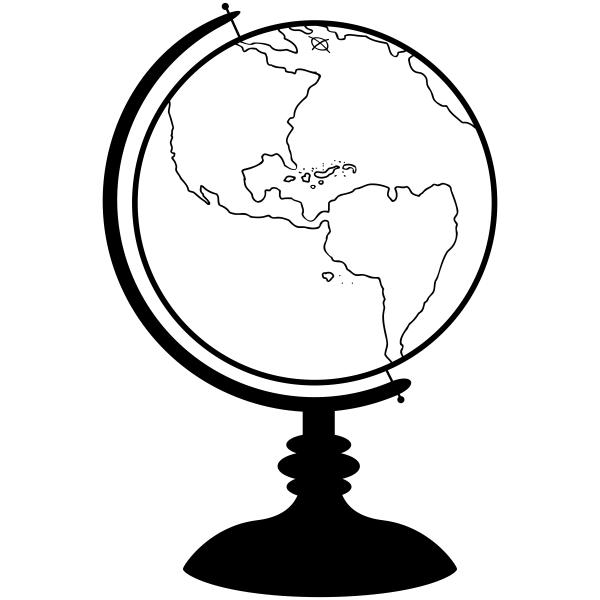 School Globe Teacher Craft Stamp