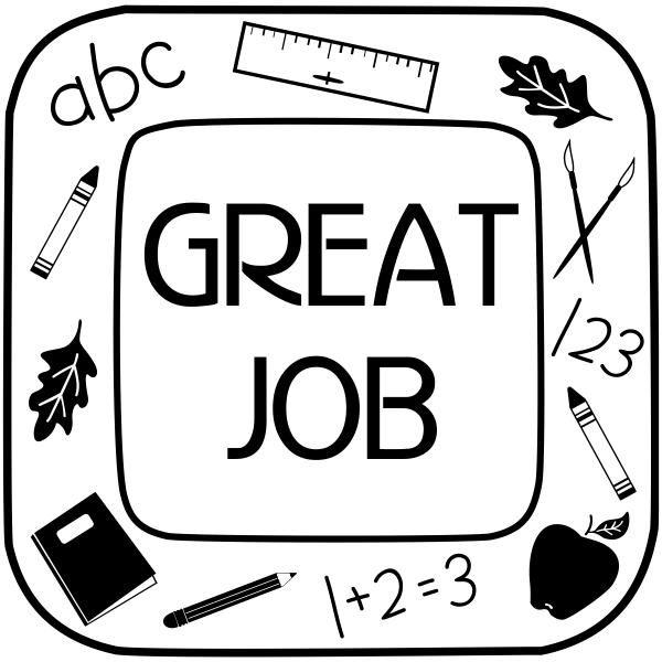 Great Job School Craft Stamp