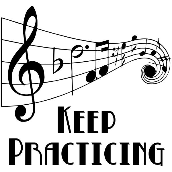 Keep Practicing Music Teacher Craft Stamp