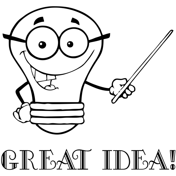 Great Idea Lightbulb Teacher Craft Stamp
