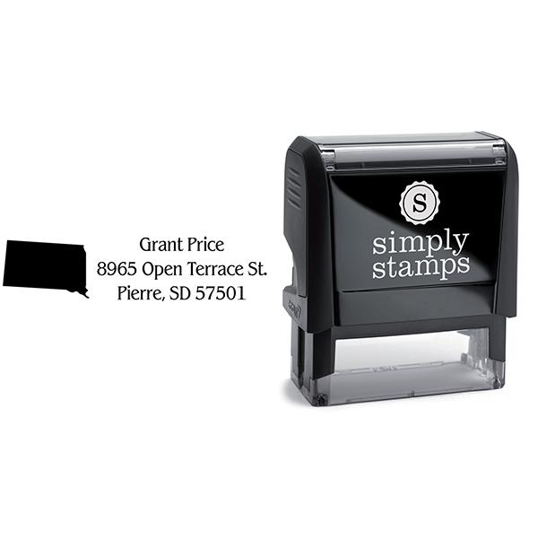 South Dakota Return Address Stamp Body and Design
