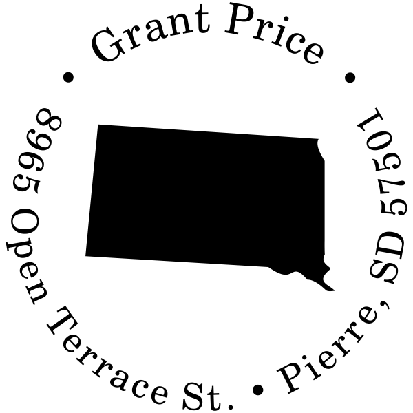 South Dakota Round Address Stamper