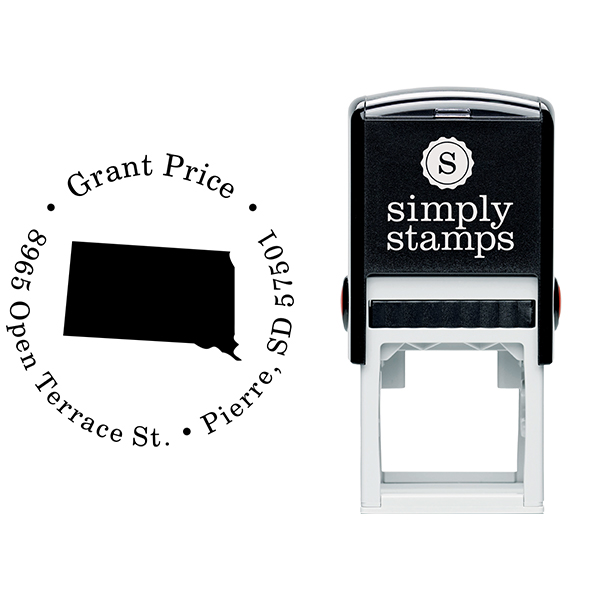South Dakota Round Address Stamp Body and Design