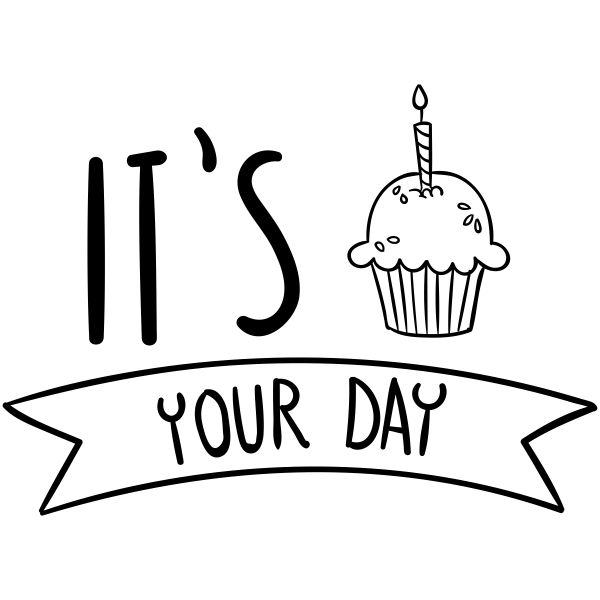It's Your Day Cupcake Craft Stamp