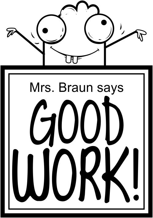 good work creature teacher stamp