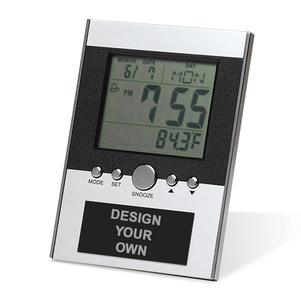 """Small Desk Clock with Large Digital LCD screen   3.75"""" x 5.25"""""""
