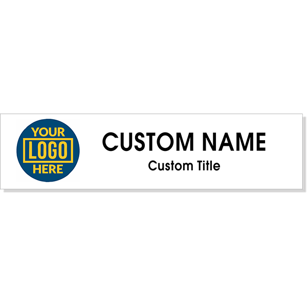 "Left Logo Full Color 2"" x 8"" Wall Plate"