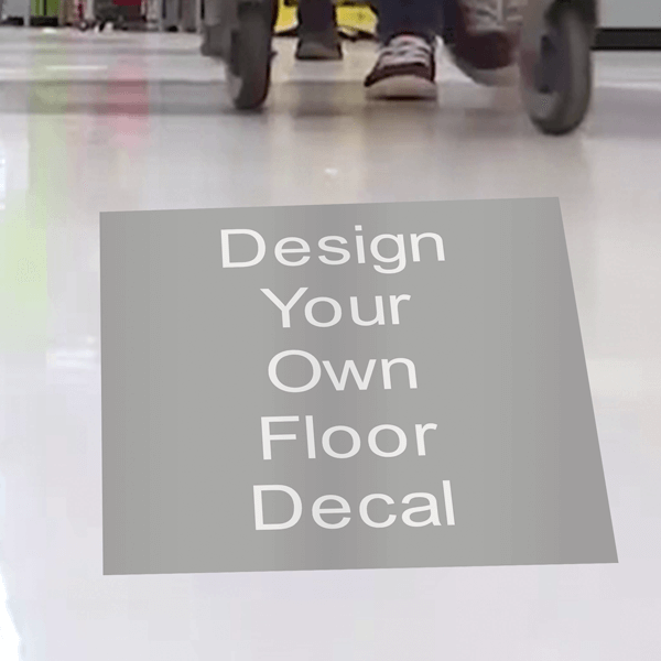 Custom Square Removable Floor Decal