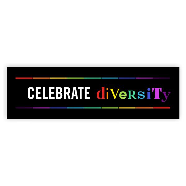 Celebrate Diversity Pride Bumper Sticker