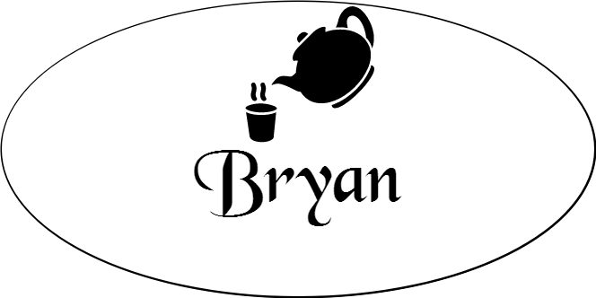 Tea & Coffee Shop Oval Name Tag