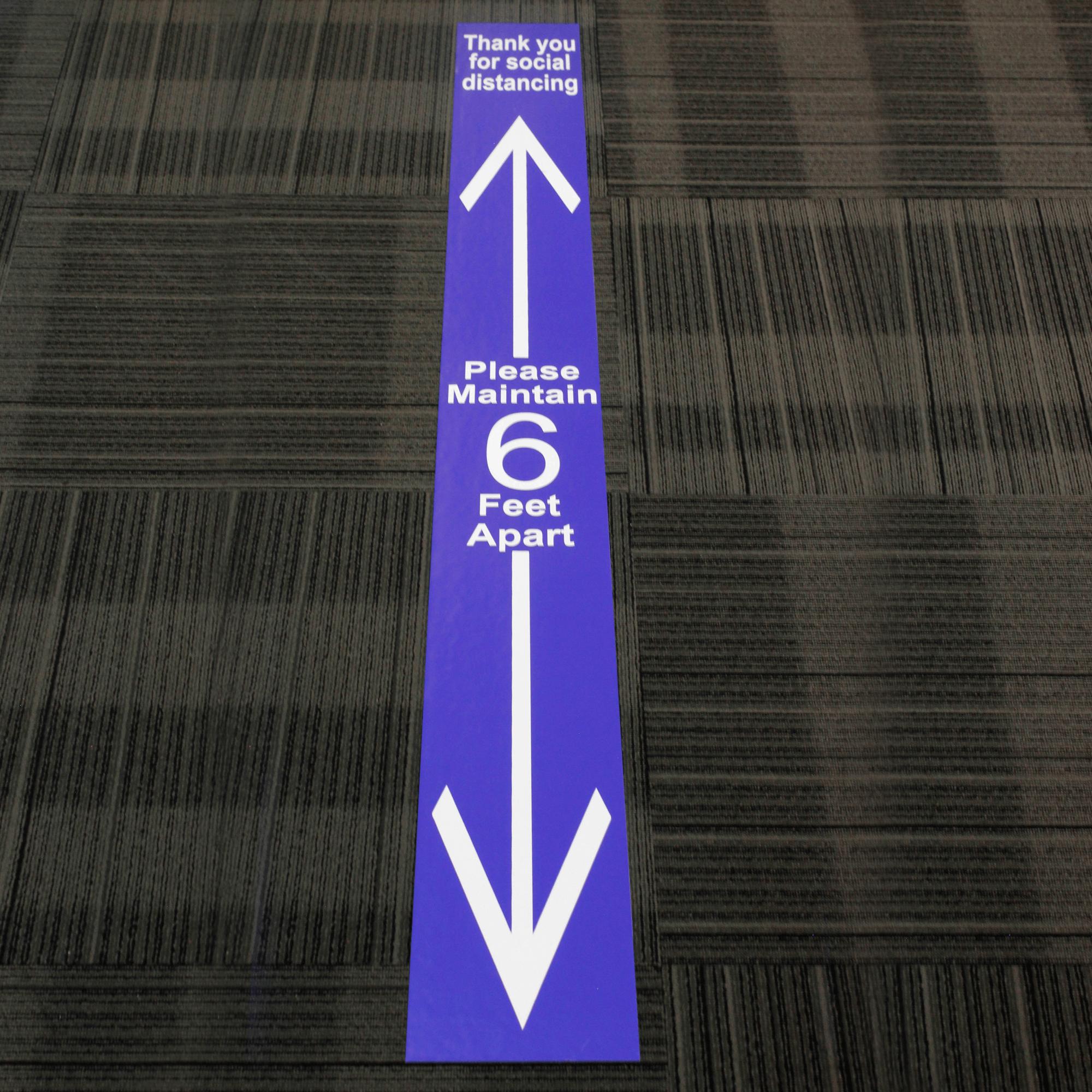 Please Maintain 6 Ft Apart Floor Decal