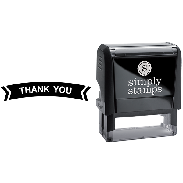 Thank You in Banner Shape Business Stamp