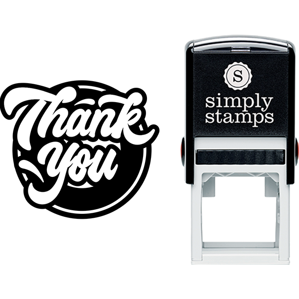 Modern Script Thank You Business Stamp