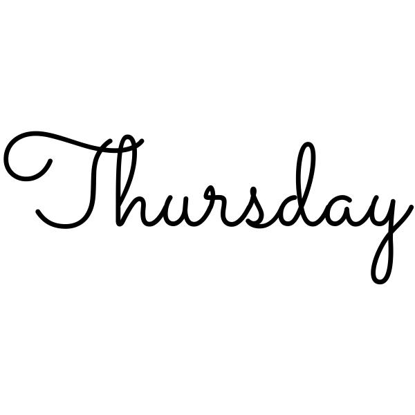 Thursday Journal Stamp