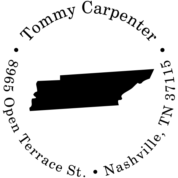 Tennessee Round Address Stamp