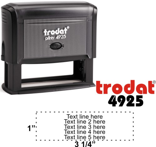 Trodat Printy 4925 | Ideal 5790 5 Line Self-Inking Stamp - Simply Stamps