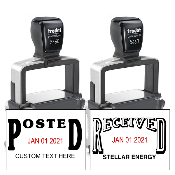 Trodat Professional Posted/Received Date Stamps