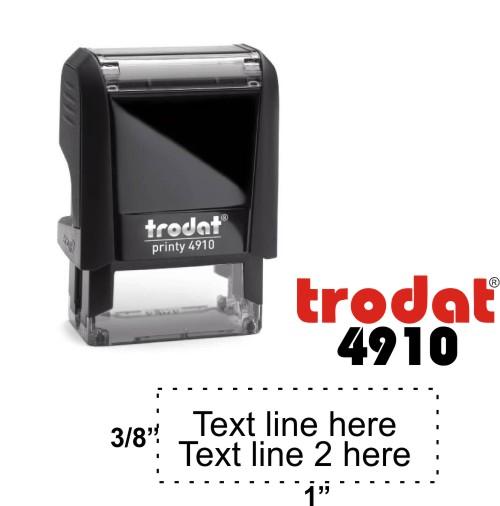 Trodat 4910 - 2 Line Stamp
