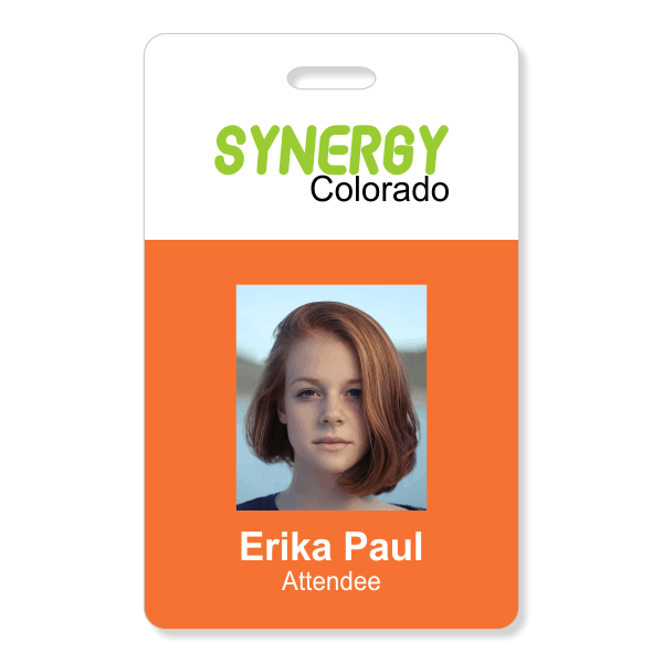 Two Color Conference Photo ID Badge