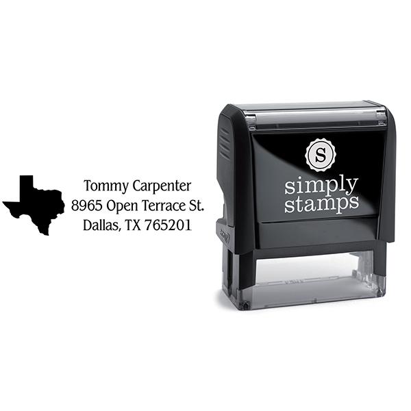 Texas Return Address Stamp Body and Design