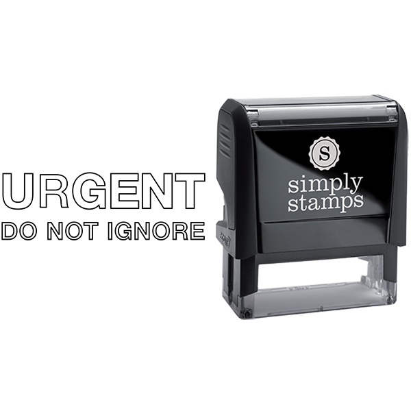 Outlined Urgent Do Not Ignore Business Stamp