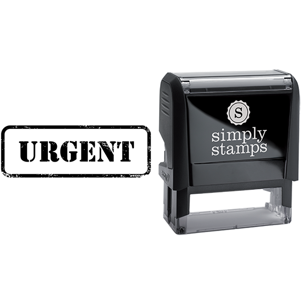 Urgent in Army Stamp Lettering Business Stamp