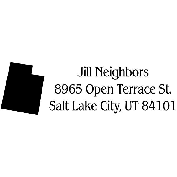 Utah Return Address Stamp State Stamp