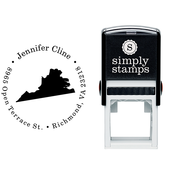 Virginia Round Address Stamp Body and Design