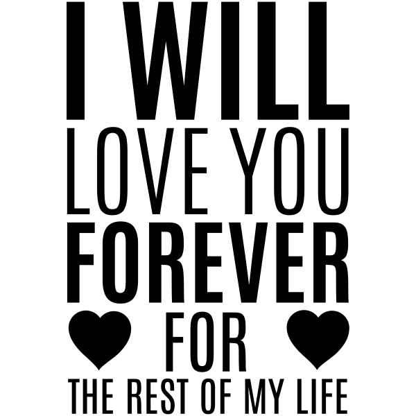 I Will Love You Forever Craft Stamp