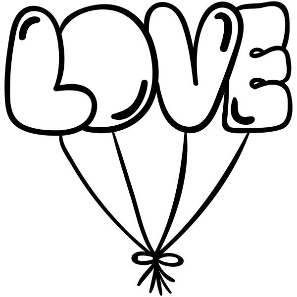 Balloon Love Craft Stamp