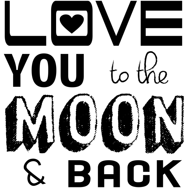 Love you to the Moon & Back Craft Stamp