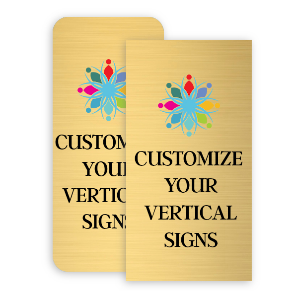 Vertical Full Color Brass Signs