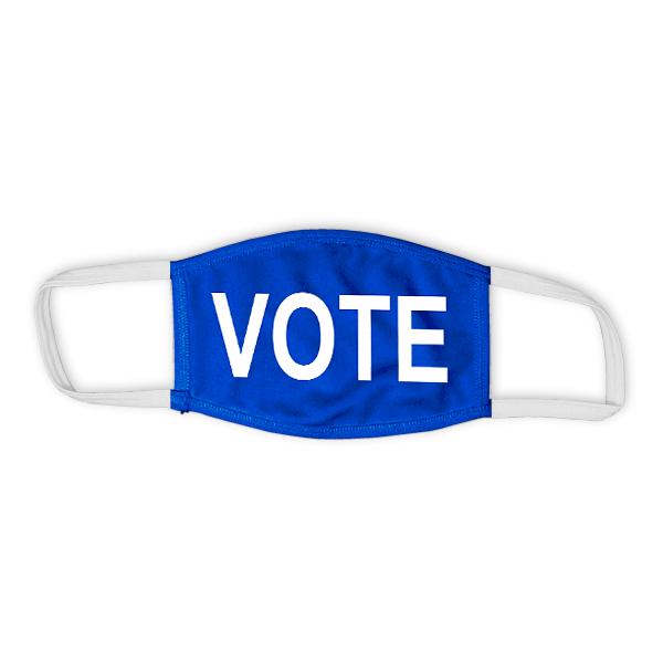 "Blue ""VOTE"" Child Size Face Mask"