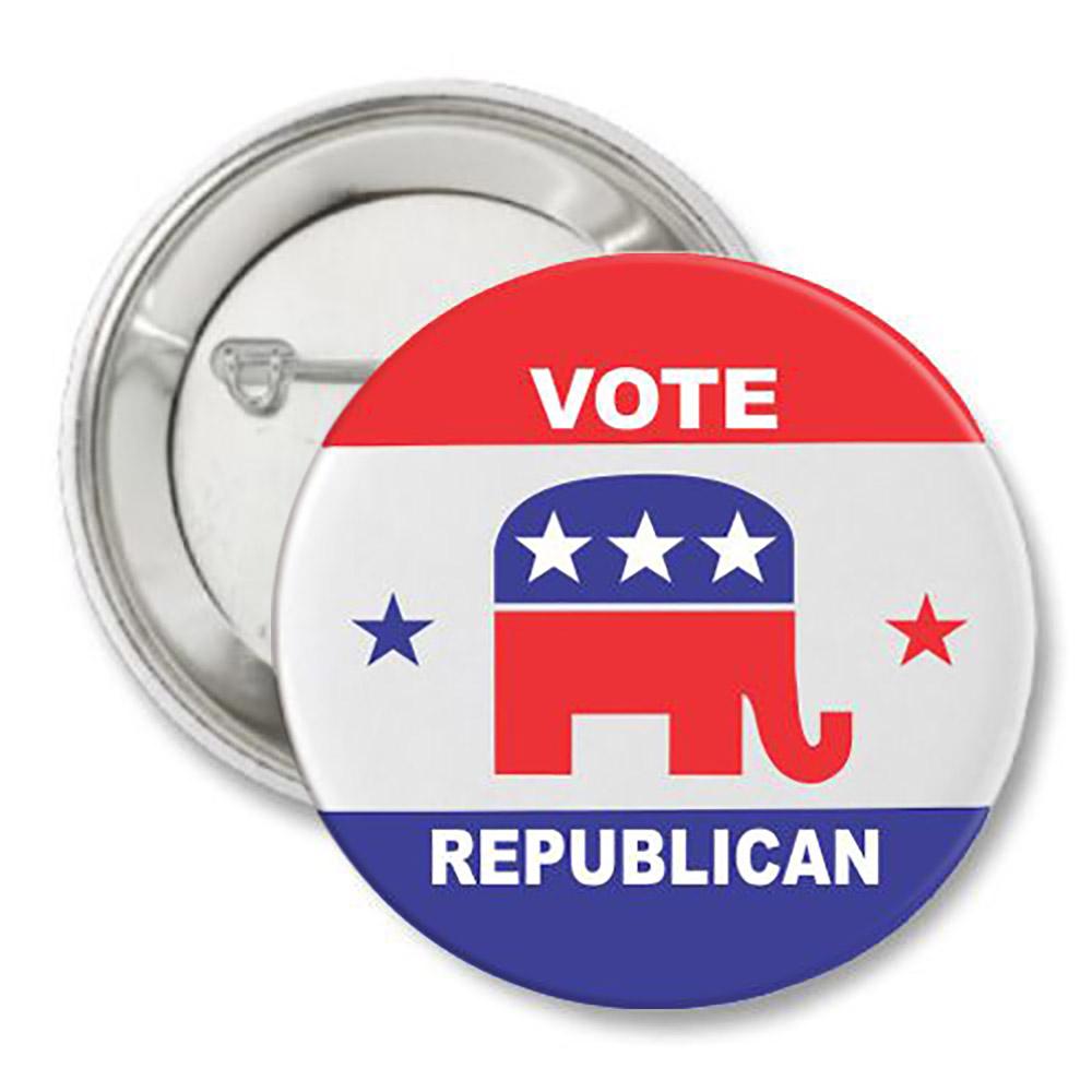 Vote Republican Elephant Button