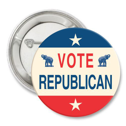 Vote Republican Vintage Look Buttons
