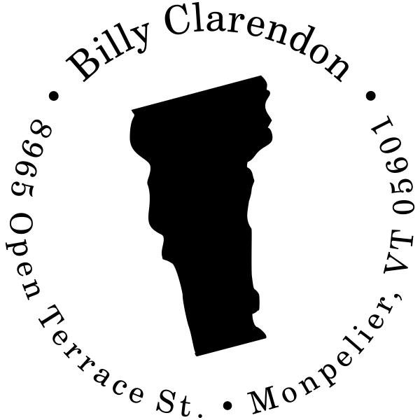 Vermont Round Address Stamp