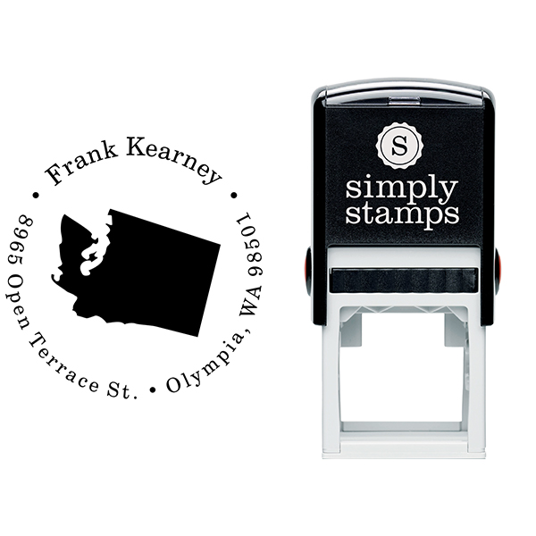 Washington Round Address Stamp Body and Design