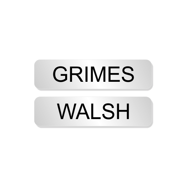 Walsh and Grimes Officer Costume Name Tags