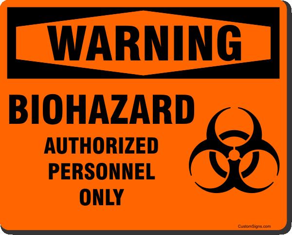 "Warning Biohazard Full Color Sign | 8"" x 10"""
